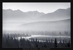 Kootenay Plains (poltorak.wieslaw2) Tags: canada alberta mountains canadianrockies mountainridge river blackwhite wieslawpoltorak