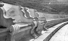 empty chairs (jen.ivana) Tags: olympics stadium benches chairs king queen athens ancient sport games day sun black white