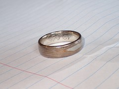 Sulphur tarnished Mokume gane ring (Chris_Moody) Tags: silver palladium platinum mokumegane mokume ring wedding woodgrain tarnish sulphur sulfur geothermal volcanic rotorua newzealand tg4 stacked zerene