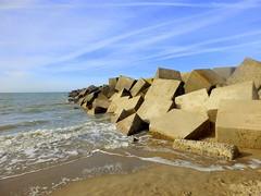 Blocks (Quetzalcoatl002) Tags: scheveningen harbour sea northsea blue sky blocks basalt beach breaker
