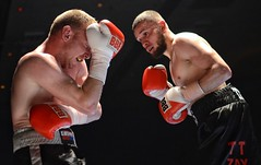 Boxing: Thomas Jarvis v Dan Carr Light Middleweight, Swindon (sophie_merlo) Tags: sports sport action swindon boxing