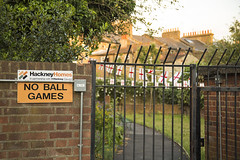 No Ball Games (Michael Goldrei (microsketch)) Tags: world street england london cup june st ball photography photo football photographer photos no soccer 14 games flags council hackney supporters 2014