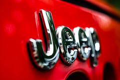 Wrangler (kbwedge) Tags: red car logo nikon automobile jeep grill chrome micro wrangler 70300 d5200
