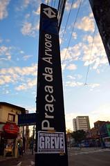Greve dos metrovirios (De Santis) Tags: world camera city cidade brazil cup brasil nikon chaos metro candid sopaulo sp caos greve metr estado escondida fotojornalismo 2014 nikor 18105mm d5100 fernandodesantis