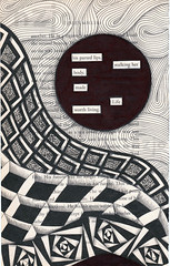 the stalker (Jo in NZ) Tags: blackandwhite drawing foundtext foundpoetry zentangle nzjo zendoodle