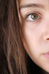 Gaze (hannsica) Tags: eye greeneyes eyeball