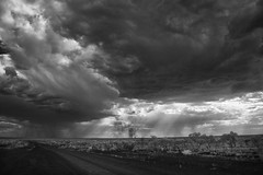 Guess where I'm heading? (erglis_m (Mick)) Tags: blackandwhite bw storm 20d monochrome contrast canon landscape ir blackwhite interesting nt stormy canoneos20d infrared northernterritory wavehill infraredfilter centraldesert stormydays lajamanu buntinehighway northerntanami