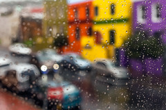 Rainy day on Rose St. (rowjimmy76) Tags: city blue winter red urban green cars rain weather june canon southafrica colorful muslim capetown mercedesbenz quarter parked dslr islamic westerncape rosestreet bokaapneighborhood 5dm2 5dmii rogueonroseboutiquehotel