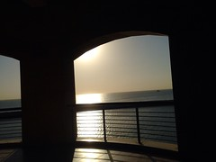 Sunrise through walls.. (ix_vengifor) Tags: morning sea sunlight beach sunshine sunrise kuwait newlife newday fahaheel newbeginning alkout