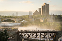 Stone Arch Bridge 3 (Stevesworldofphotos) Tags: city water minnesota river downtown flood dam minneapolis waterfalls mississippiriver lockanddam stonearchbridge