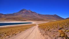Laguna Miscanti Atacama desert (flowerikka) Tags: sky lake water chili bluesky volcan atacamadesert lagunamiscanti