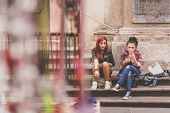 A smoke after school (Sbastien CORRE) Tags: street girls italy canon photography young teen turin