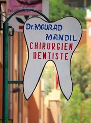 morocco (gerben more) Tags: sign tooth morocco dentist marokko