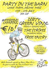 Party In The Barn (Angjon33) Tags: party green yellow poster cycling flyer thomas yorkshire gig band dirty dgv huddersfield bradshaw letourdefrance hd7 dirtygreenvinyl letouryorkshire