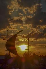 1/Atardecer en Puerto Venecia - Zaragoza - Explorer 6/7/14 (Nati Almao1) Tags: gallegasypuertovenecia
