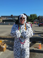 Scotty Dog! (horsepj) Tags: dog woof animal puppy fuzzy indiana parade suit arf spots pjs doggy pup paws bloomington 4thofjuly dalmatian onesie
