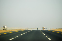 The road to unknown (marcoforto) Tags: road hot highway desert heat asphalt saudiarabia d3000
