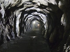 Long Scary Tunnel (will_cyclist) Tags: cycling switzerland dam tunnel barrage emosson