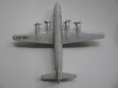 Siku (streamer020nl) Tags: germany airplane toys switzerland model plastic seven 1960s helvetia douglas ch seas siku swissair dc7 spielwaren hbibk