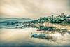 Lake reflections (Nejdet Duzen) Tags: trip travel lake reflection turkey boat monastery historical sandal göl yansıma turkei milas seyahat tarihi manastır latmos bafagölü heraklia kapıkırı bafalake türkiyeimuğla