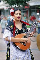 Girl with Mandolin (Tanjica Perovic) Tags: portrait dance clothing spain folkart guitar traditional serbia culture august folklore spanish instrument procession colourful cultural garments headdress srbija 2014 ensamble nationaldress canonef50mmf14 pirot canoneos400d  colourrich  tanjicaperovicphotography medjunarodnifestivalfolklorapirotsrbija internationalfolklorefestivalpirotserbia folkloredanceensamble  medjunarodnifestivalfolklora asociacioncorosydanzassentisimacruzdeabanillamurcia spanishgirlwithmandolin
