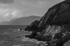 Coumeenoole Beach #2 (jean matthieu) Tags: ocean road trees ireland light summer vacation sky bw irish cliff sun white lake holiday black color tree green art water stone clouds canon fun photography eos see photo waterfall day august kerry burren lanscape 2014
