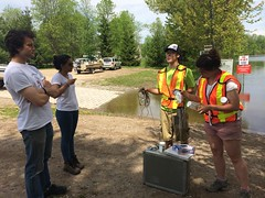 MVCA water sampling for MOE at Bonnechere