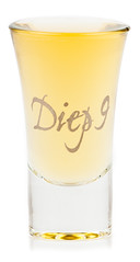 Diep9 Old Genever in shot glass (Diep 9 Genever) Tags: gin shotglass genever belgi