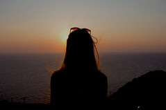 Gloaming ([elina]Lex) Tags: sunset sea sky sun silhouette santorini greece simplicity oia