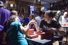 Arm wrestling competition at the Hard Rock Cafe Chicago (majurej) Tags: chicago rock cafe arm wrestling hard leslie adkins
