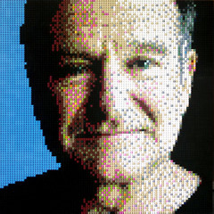 Farewell (Dave Shaddix) Tags: robin williams lego mosaic mork