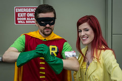 Lexi and the Caped Crusader (misterperturbed) Tags: robin baltimore titans teentitans boywonder baltimoreconventioncenter baltimorecomiccon thenewteentitans bcc2014 plushpop