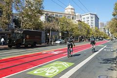 Market Street (sirgious) Tags: sanfrancisco red bus muni lane transit marketstreet sftr