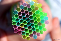 Honeycomb of Straws (mootzie) Tags: vintage holding hands circles tubes drinking holes honeycomb coloured straws
