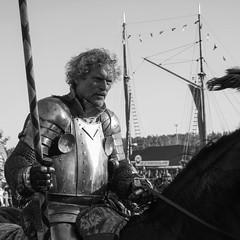 Ride into Battle (Mikko Salonen) Tags: monochrome medeivel rohantallit rohanstables