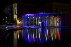 Royal City (Renata Lenartowicz) Tags: blue reflection fountain night lights guelph royalcity
