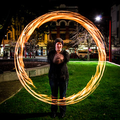 Playing with fire (thenorthernmonkey77) Tags: park newzealand green canon circle fire sigma swing flame staff burn nz wellington dslr flammable gloverpark ringoffire 1770mm 1100d rebelt3