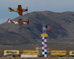 Reno Air Races 2014 - Finish of Unlimited Gold Heat 3 (g_takeuchi) Tags: reno nationalchampionship airraces airrace 2014 stead nevada airplane airplanes plane planes aircraft northamerican p51d p51 mustang voodoo 4473415 n551vc strega 4413105 n71ft racer airracer racers airracers unlimited gold heat3 heat finish dsc9632c airshow race races rts krts airport washoecounty aviation