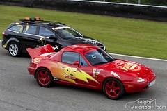 """Mazda MX-5 """"Lightning McQueen"""" (belgian.motorsport) Tags: racetrack race de track anniversary von parade lap hour hours stunden lightning van 25th mazda endurance circuit mcqueen mx5 zolder racecars 24h 2014 uren heures menzo"""