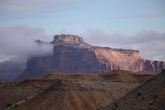 Utah Sunrise, Clouds on Mountain. September (hendersonnevada) Tags: mountain clouds sunrise san september interstate rafael reef 70