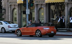 Aston Martin V8 Vantage N400 Roadster (RudeDude2140a) Tags: orange sports car martin exotic v8 aston vantage roadster n400