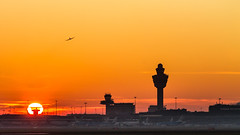 "Sunset at Schiphol airport in Amsterdam • <a style=""font-size:0.8em;"" href=""http://www.flickr.com/photos/125767964@N08/15169879246/"" target=""_blank"">View on Flickr</a>"