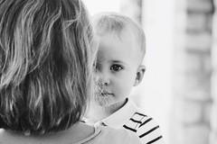 Johann (Helose Crt) Tags: baby white black love eyes nikon child marin young cousin maman johann visage meudon rayures d3200