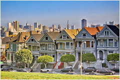 San Francisco's Painted ladies (and MiniCooper!) (SergeK ) Tags: sanfrancisco california houses ladies usa colors architecture buildings bright painted details victorian architectural haight american styles lower edwardian paintedladies californie