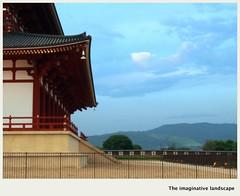 P3065  Heij Palace (The imaginative landscape) Tags: japan nara yamato   mtwakakusa  olympuspenep3 ealabo theimaginativelandscape fuwarysuke thegreathallofstate