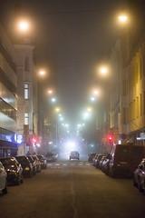 Annankatu, Helsinki (Mikko Miettinen) Tags: fog night suomi finland dark helsinki co