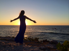 Annette in Punta Mita silhouette Feb 2014 (Mabry Campbell) Tags: ocean sunset woman water silhouette mexico person photography coast photo image coastal photograph fourseasons february puntamita annette iphone 2014 rivieranayarit iphoneography mabrycampbell