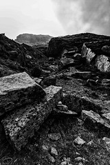 The old Quarry (Paul T McDowell Photography) Tags: uk autumn sky blackandwhite bw abandoned stone canon photography unitedkingdom path sigma northernireland disused quarry ulster mournemountains 2014 codown canon500d sigma1020mmf456exdchsm leefilters lee09ndgrad paultmcdowellphotography