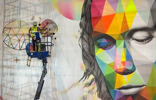Paco de Lucía ROSH333 y OKUDA  - Madrid Street Art Project