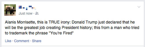 A One Status Recap About Donald Trump Announcing His Bid for 2016 Republican Presidential Nomination